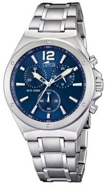 Lotus Armbanduhr Herrenuhr 10120/1 silber Edelstahl Uhr Chronograph