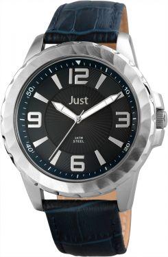 Just Herrenuhr braun silber 48-S9312-BR Uhr Armbanduhr Lederarmband