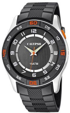 Herrenuhr Calypso by Festina Uhr K6062/1 grau silber Armbanduhr Beleuchtung