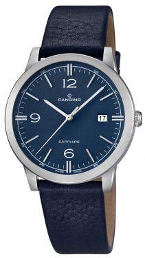 Candino Uhr Herrenuhr C4511/2 Lederarmband blau Armbanduhr