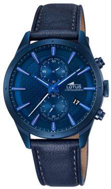 Lotus Herren Uhr 10112/1 schwarz Multifunktions-Uhr Lederarmband