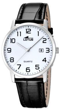 Lotus Herrenuhr Armbanduhr Lederband schwarz 18239/1 Datum