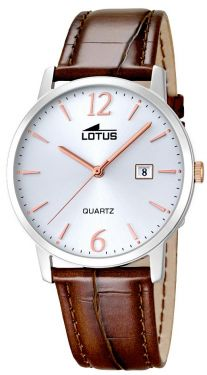 Lotus Herrenuhr Armbanduhr Lederband braun rose 18239/4 Datum