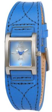 48-S8976BL-BL Just Uhr Damenuhr 48-S8976BL-BL Lederarmband blau