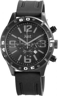 Just Chronograph Herrenuhr schwarz 48-S3978-BK-BK Armbanduhr