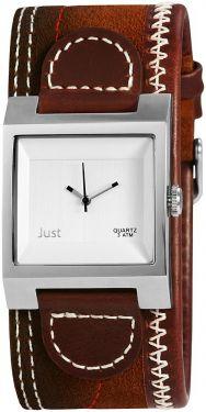 Just Herrenuhr 48-S1878-BR Lederarmband braun Uhr