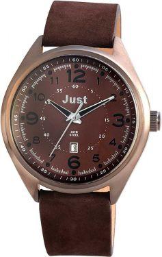 Just Herrenuhr Uhr Armbanduhr 48-S1231-BR dunkelbraun Datumsanzeige