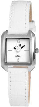 Just Damenuhr Uhr weiß JU10056-003 Armbanduhr Lederarmband