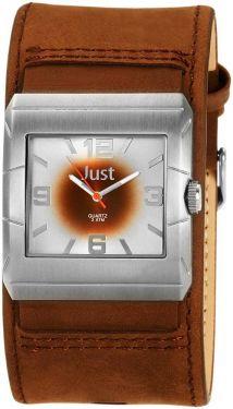 Just Uhr Herrenuhr 48-S2566-SL-BR Unterlege-Armband Leder braun silber