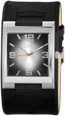 Just Uhr Herrenuhr 48-S2765-BK Lederarmband schwarz Unterlegearmband