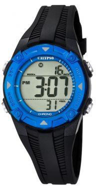 Calypso Kids Kinder Armbanduhr Digitaluhr K5685/1 schwarz blau