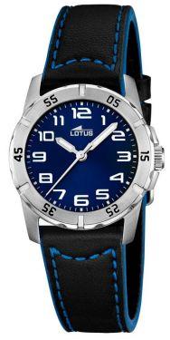 Kinderuhr Lotus Uhr 15945/b schwarz blau Leder Armbanduhr