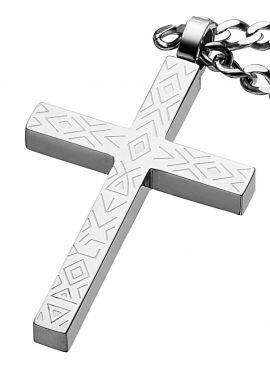 Police Halskette Kreuz PJ25504PSS-01 Sinner Edelstahl Kette
