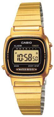 Casio Retro Uhr Damenuhr LA670WEGA-1EF gold schwarz