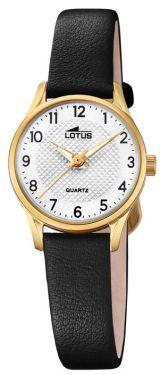 Lotus Uhr Damenuhr 15621/1 Lederarmband schwarz