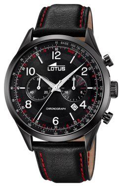 Herrenuhr Lotus Armbanduhr Lederarmband schwarz 18208/1