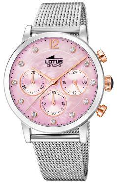 Lotus Damenuhr Trendy Armbanduhr Edelstahl 18137/1 Strass PVD braun