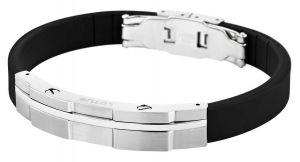 Lotus Style Herren Armband LS1316-2/2 Kautschuk Edelstahl schwarz ca. 23 cm