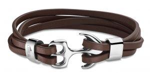 Lotus Style Herren Leder Armband LS1380-2/2 schwarz Zopfmuster geflochten