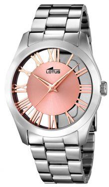 Lotus Damen Armbanduhr Edelstahl 18122/1 silber rose