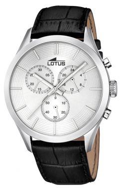 Lotus Uhr Herren Armbanduhr Chronograph 18119/1 schwarz silber