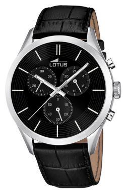 Lotus Uhr Herren Armbanduhr Chronograph 18119/2 schwarz silber