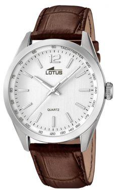 Lotus Herrenuhr Armbanduhr Lederband braun silber 18149/1
