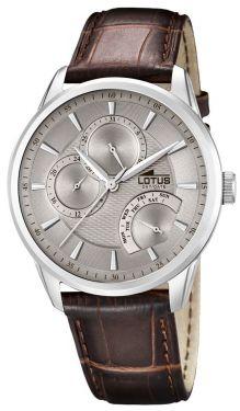 Lotus Herrenuhr 15974/2 Armbanduhr Lederarmband braun Chronograph