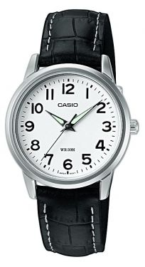 Casio Uhr Damenuhr LTP-1303PL-7BVEF Lederarmband weiß