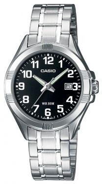 Casio Uhr Damenuhr LTP-1308PD-1BVEF schwarz silber