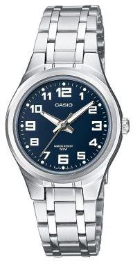 Casio Uhr Damenuhr LTP-1310PD-2BVEF Armbanduhr blau silber