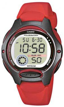 Casio Uhr Kinderuhr LW-200-4AVEF Kinderarmbanduhr rot