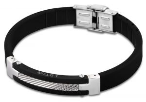 Männerarmband Lotus Style Armband LS1522-2/2 Edelstahl Kautschuk 21 cm