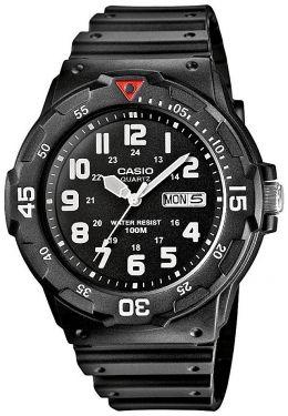 Casio Uhr MRW-200H-1BVEF analog mit Datumsanzeige schwarz