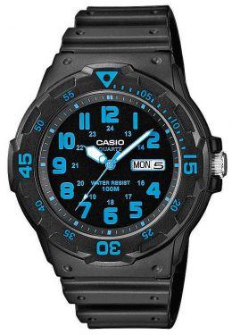 Casio Uhr MRW-200H-2BVEF analog mit Datumsanzeige schwarz blau