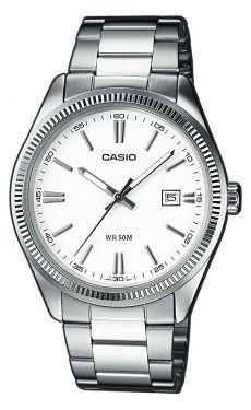 Casio Uhr MTP-1302PD-7A1VEF Herrenuhr Edelstahl weiss