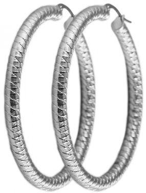 Ohrringe Edelstahlohrringe 50 mm Edelstahl Zirkonia