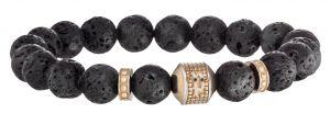 Police Kugel Armband schwarz silber PJ25529BSB-01-S SCEPTER Stretch