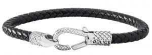 Police Leder Armband schwarz ELEMENT PJ25718BLB.01-L 20 cm