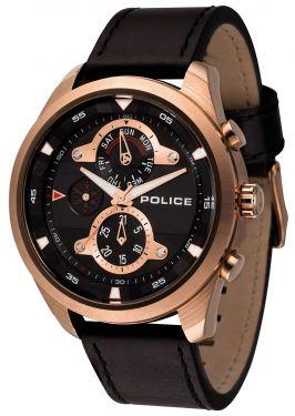 Police Armbanduhr P14376JSU-61 Herrenuhr schwarz Multifunktion