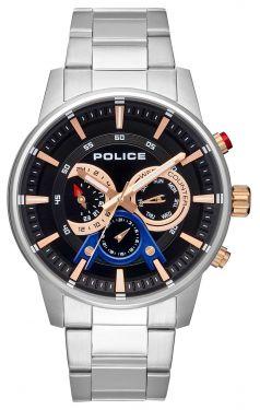 Police Armbanduhr P14381JSTBL-03M Uhr für Linkshänder