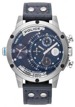 Police Armbanduhr P14376JSR-02 Herrenuhr Lederband schwarz Multifunktion