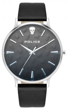 Police Armbanduhr PL14384JSB.19 GOVERNOR Braun Beige Lederband
