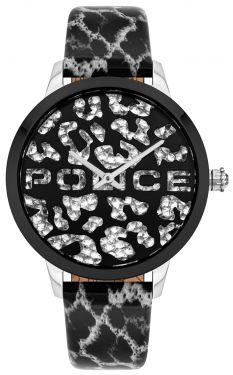 Police Damen Armbanduhr P10501BS-28MA Glamour Square Uhr
