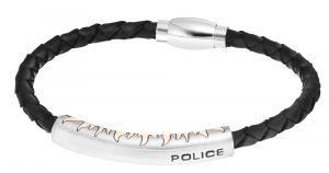 Police Lederarmband geflochten PJ25152BLB-01-L INDY II schwarz silber