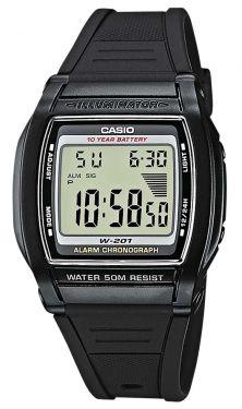 Casio Digitaluhr W-201-1AVEF Digital Uhr schwarz