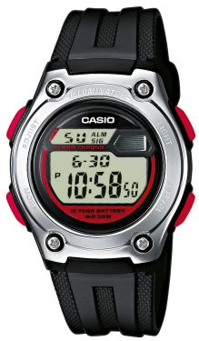 Casio Digitaluhr W-211-1BVES schwarz rot