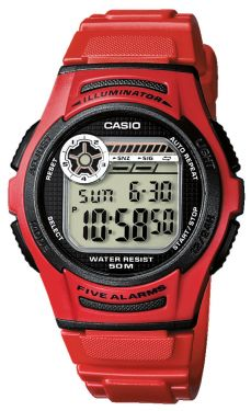 Casio Digitaluhr W-213-4AVES rot Collection Uhr