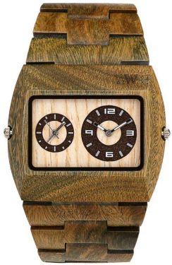 Wewood Uhr Holzuhr Herrenuhr JUPITER ARMY khaki Armbanduhr