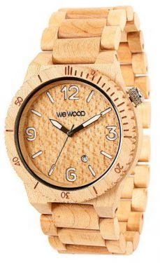 Wewood Uhr Holzuhr Alpha Beige Armbanduhr WW08002 Herrenuhr